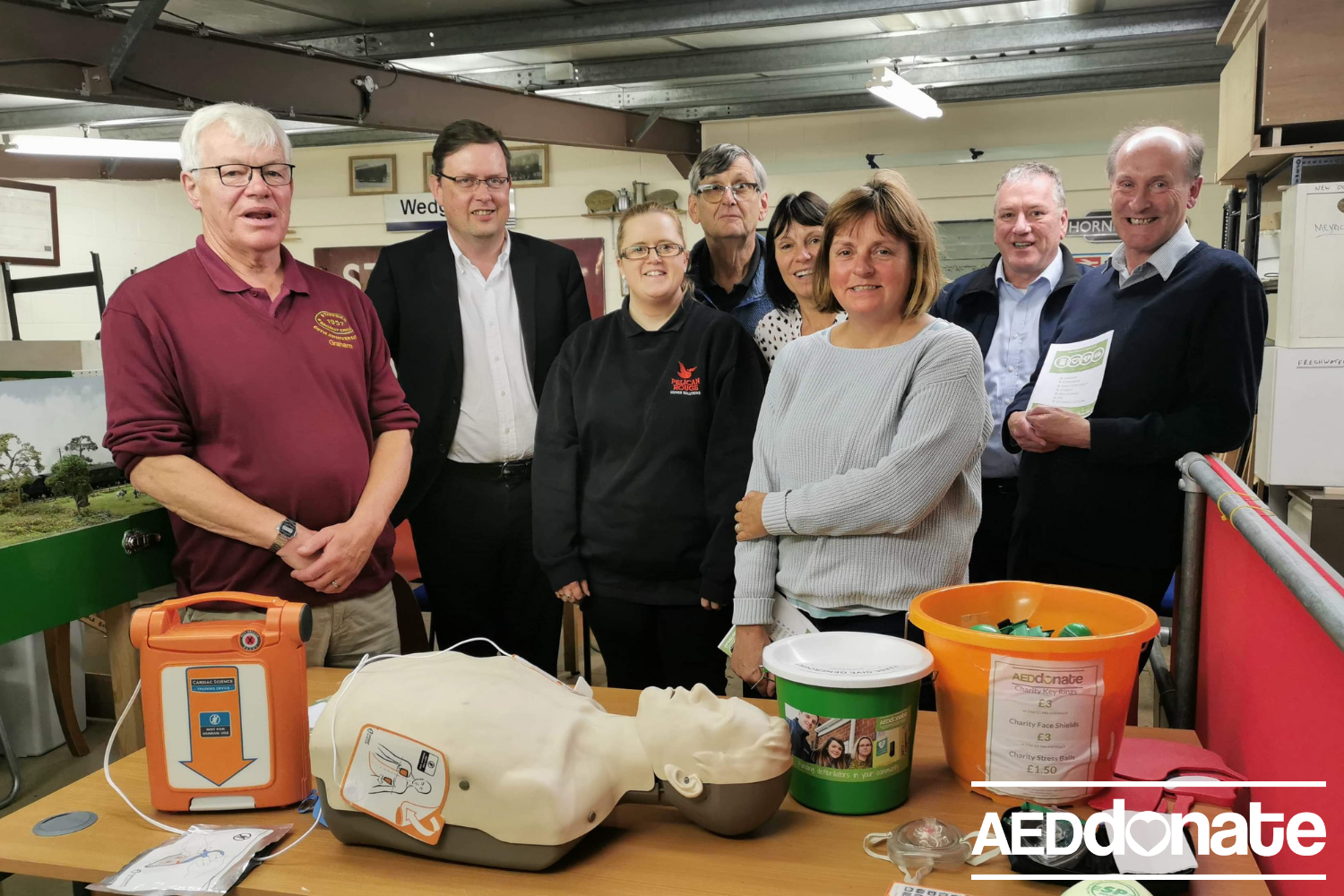 Defibrillator training for Stafford Railway Circle