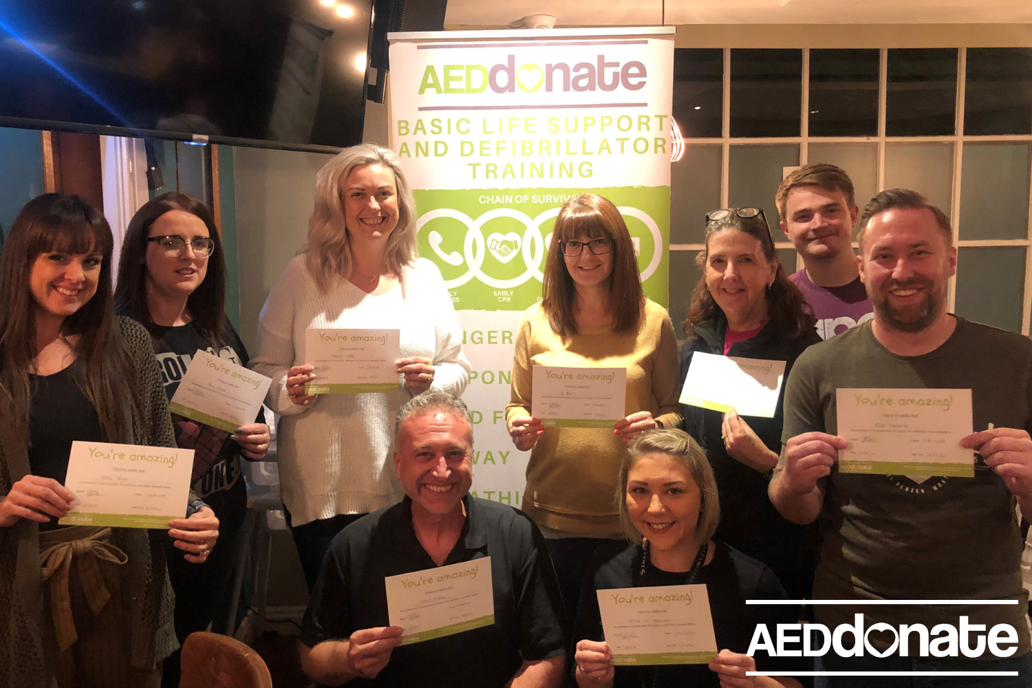 Defibrillator awareness training for Wall Heath Tavern