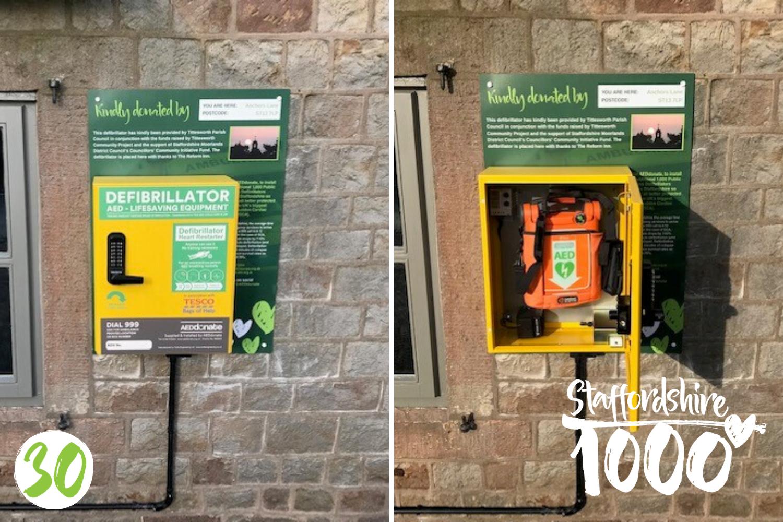 Defibrillator installed at The Reform Inn, Leek