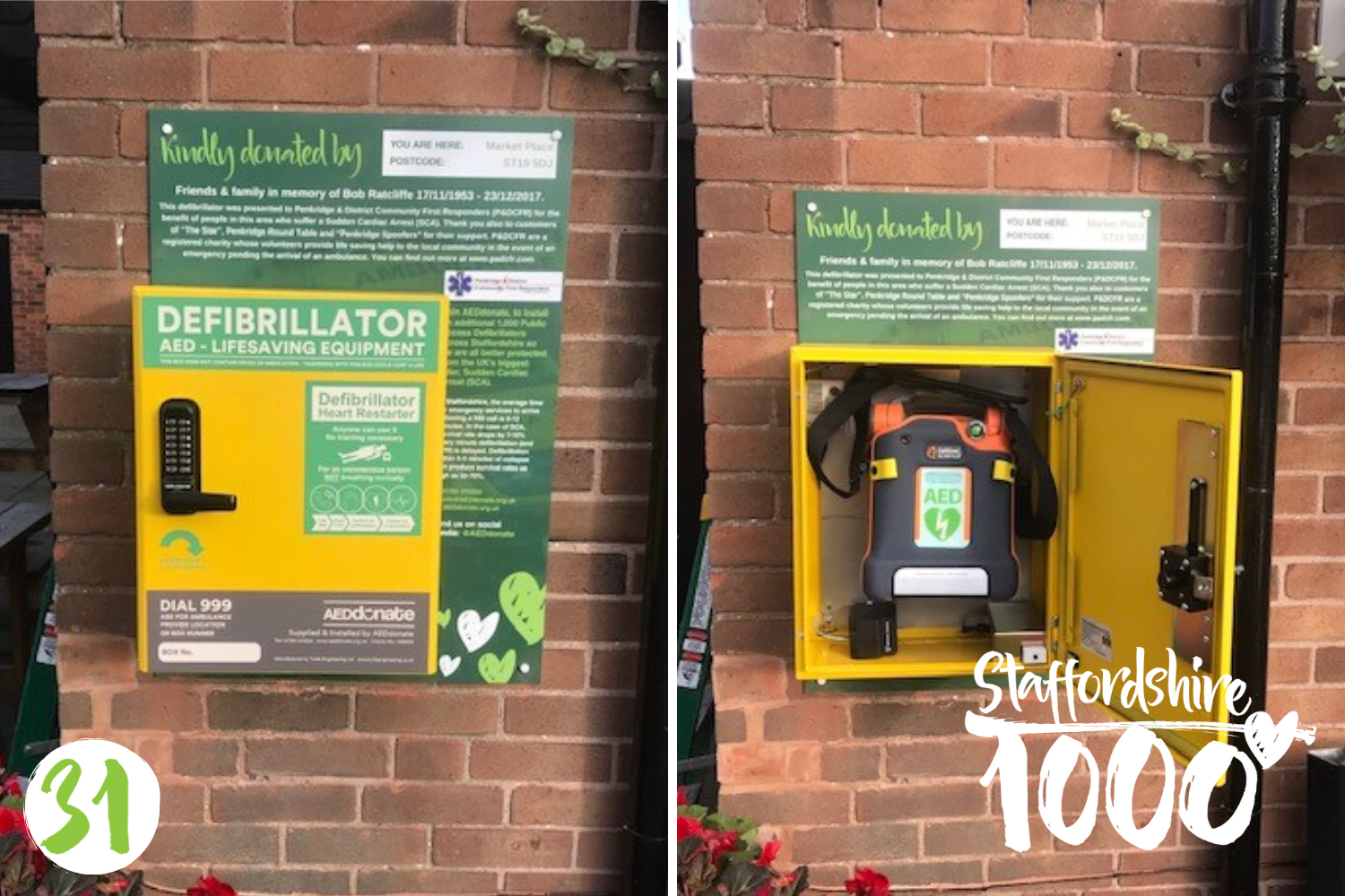 Defibrillator placed in memory of Bob Ratcliffe