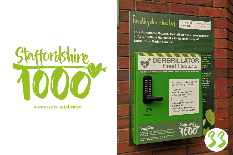 Defibrillator installed at Aston Village Hall