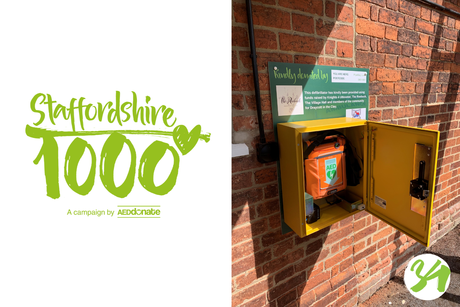 Defibrillator for Draycott in the Clay
