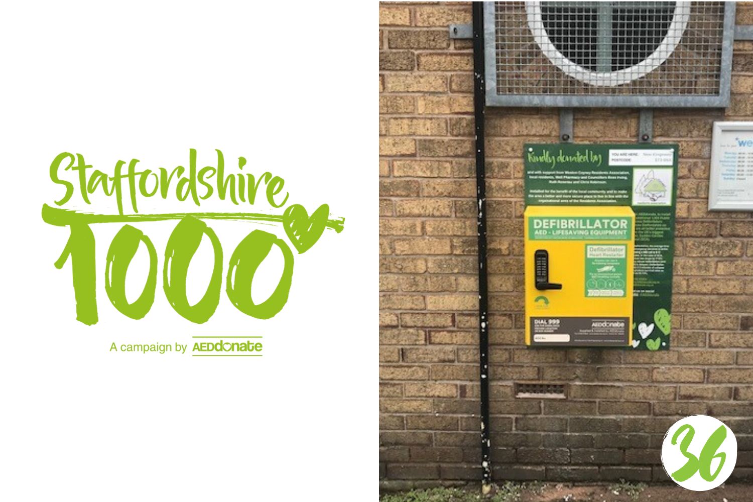 New defibrillator for Weston Coyney