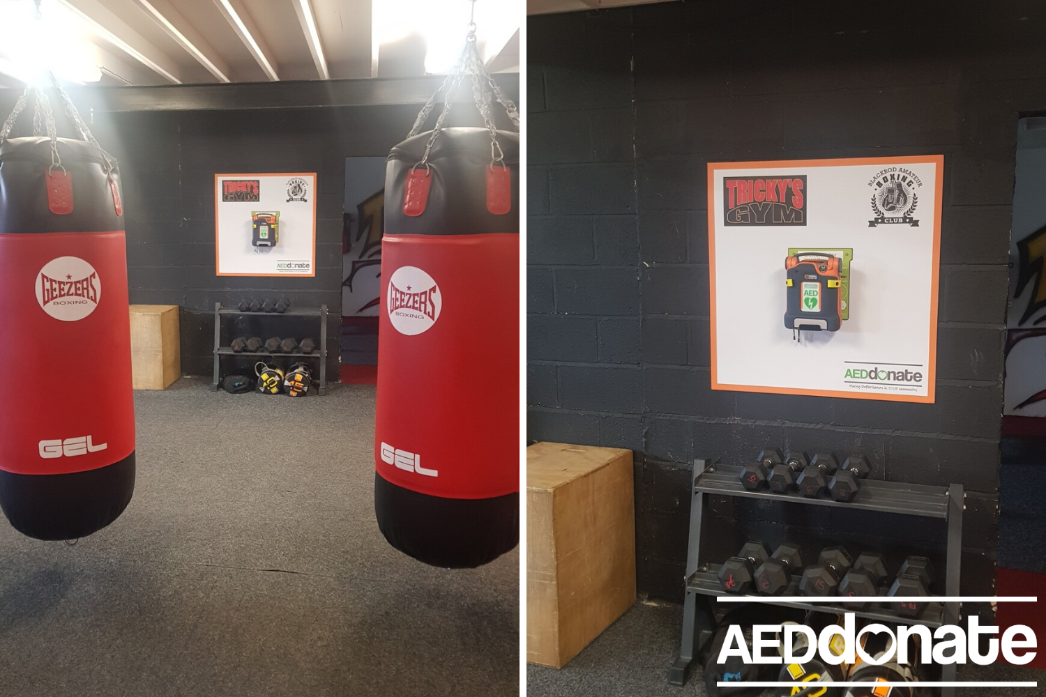 Defibrillator for Blackrod Boxing Club