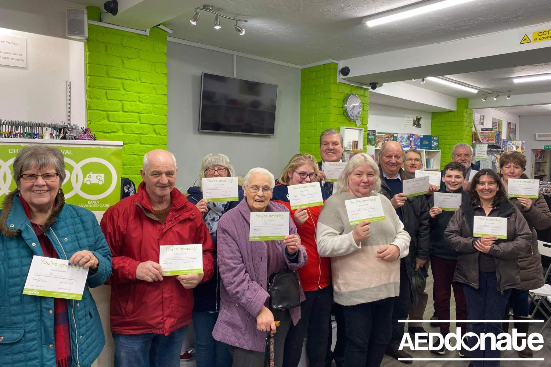 Defibrillator awareness session at AEDdonate Charity Shop
