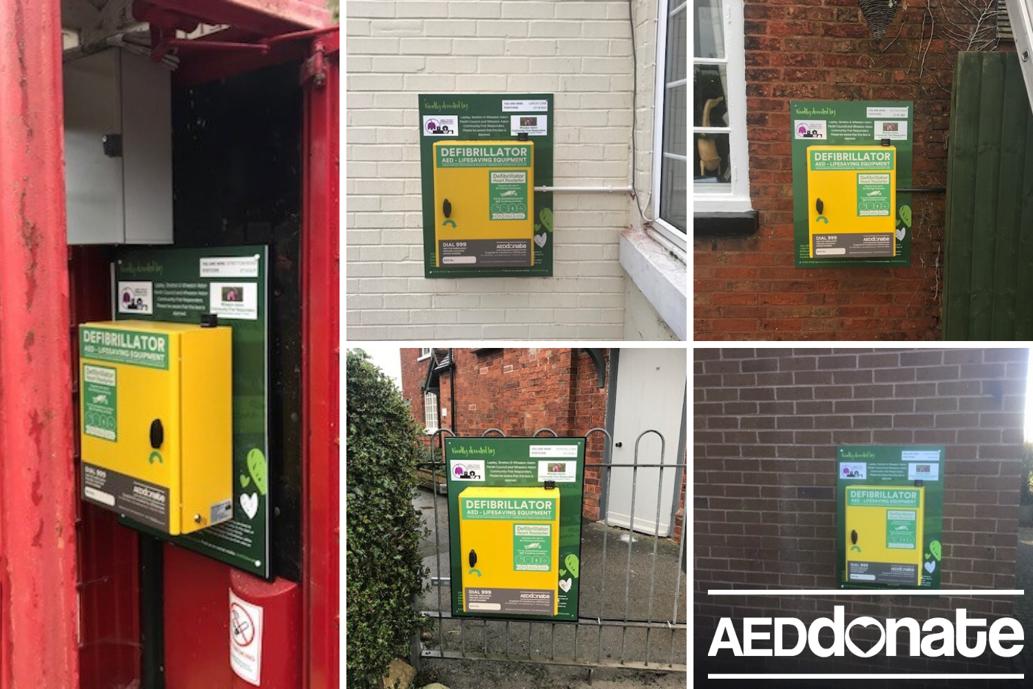 Five defibrillators for Wheaton Aston