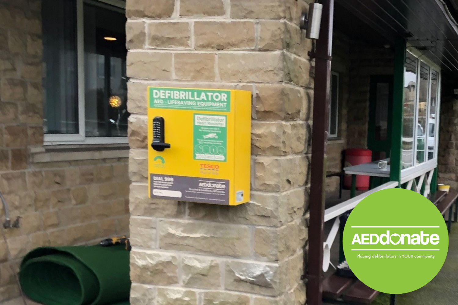AED for Broad Oak Bowling Club, Huddersfield