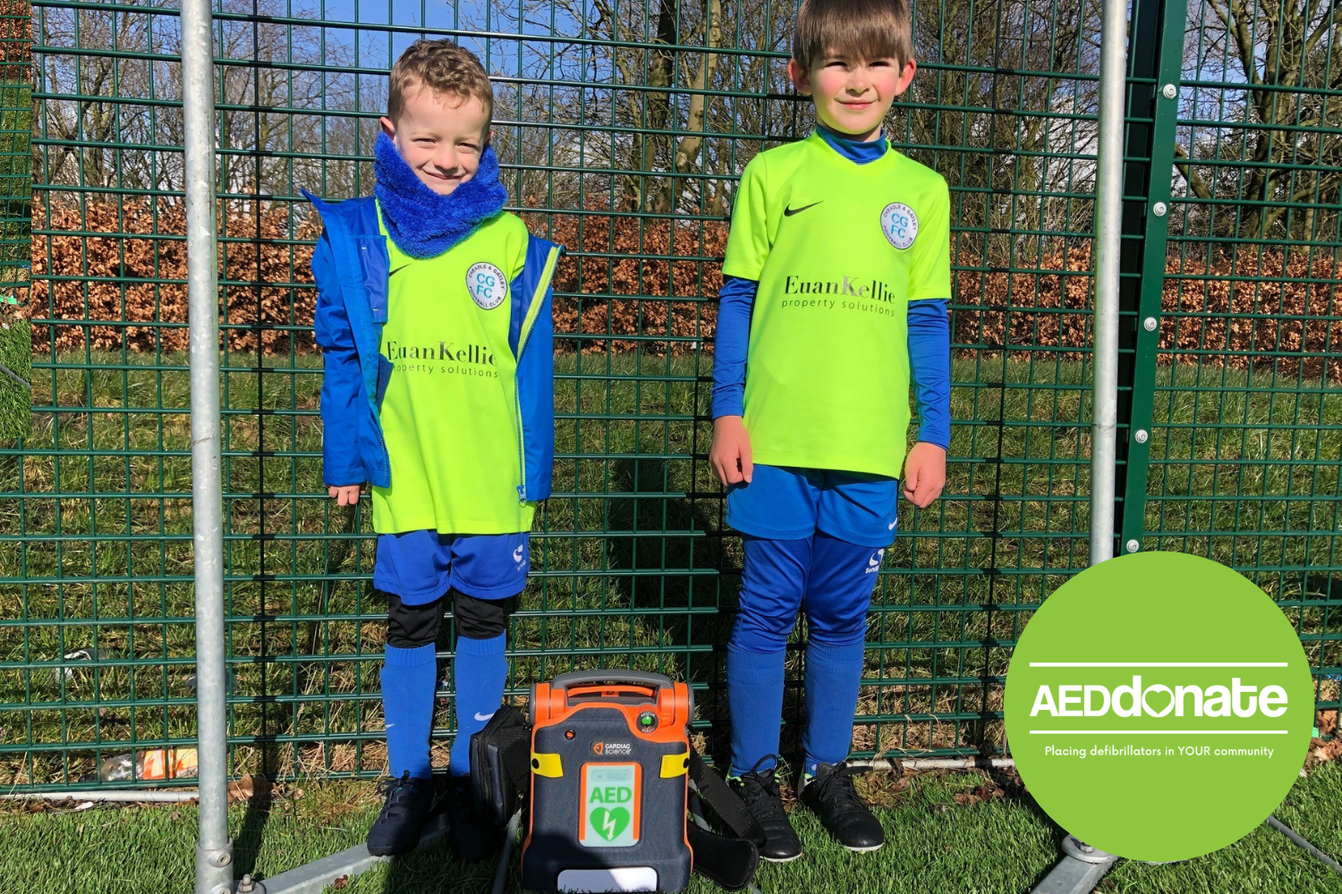 AED for Cheadle & Gatley U7's Hurricanes Football Club
