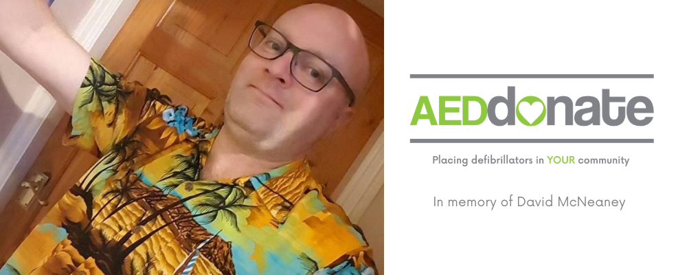 Community AED in memory of David McNeaney