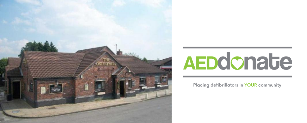 Defibrillator for Oxleathers, Stafford