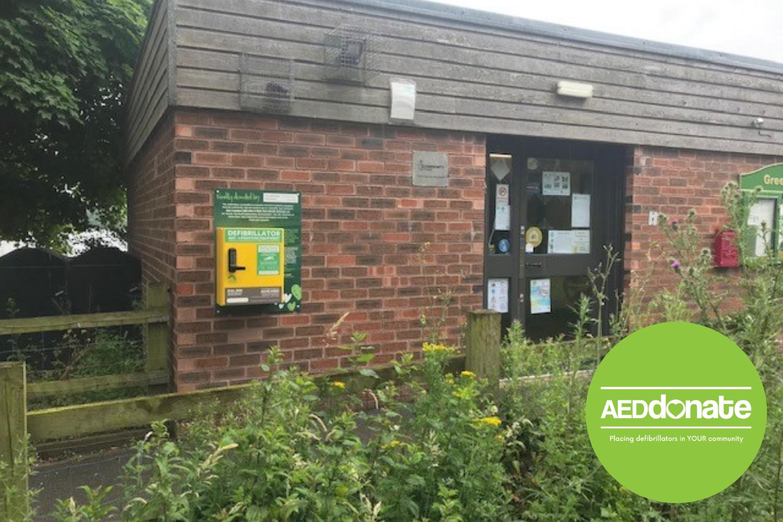 Defibrillator installed at Green Door Visitor Centre, Westport Lake, Stoke-on-Trent