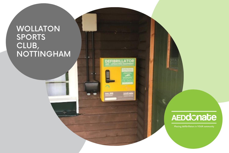 Public Access Defibrillator Cabinet installed at Wollaton Sports Club